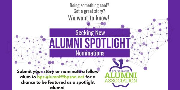 alumni spotlight nomination request graphic