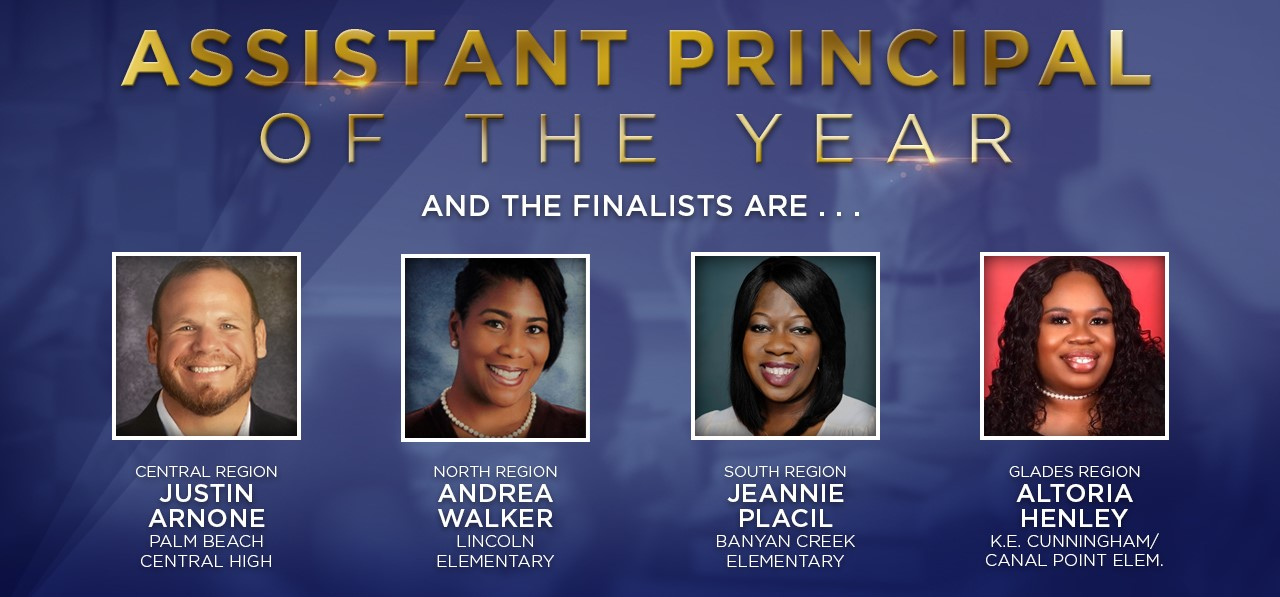 Assistant Principal of the Year nominees
