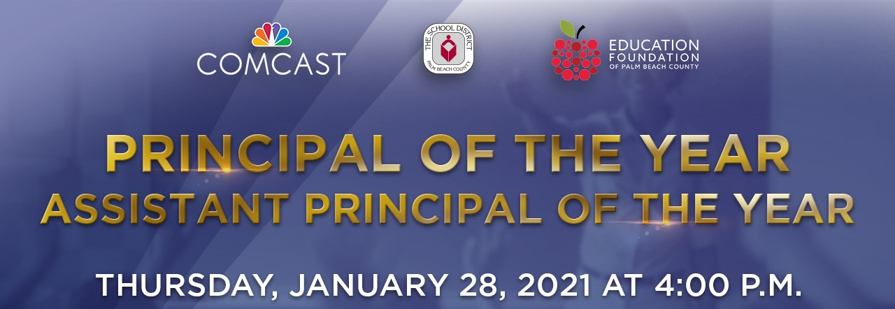 Principal of the Year, January 28, 2021 at 4pm