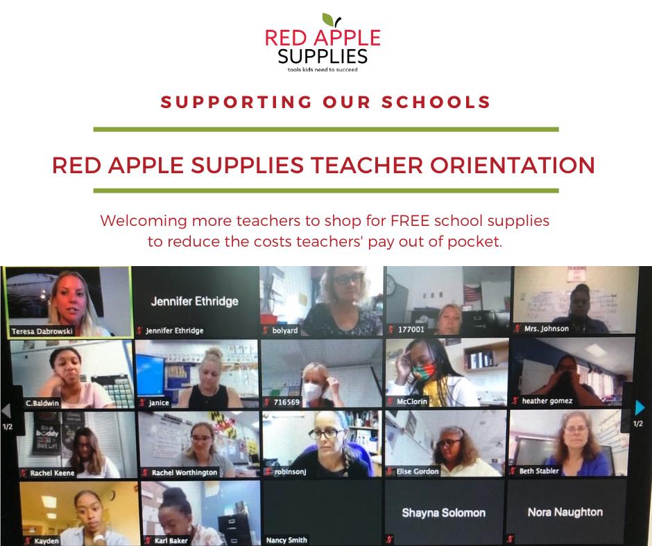 Zoom Red Apple Supplies Teacher Orientation