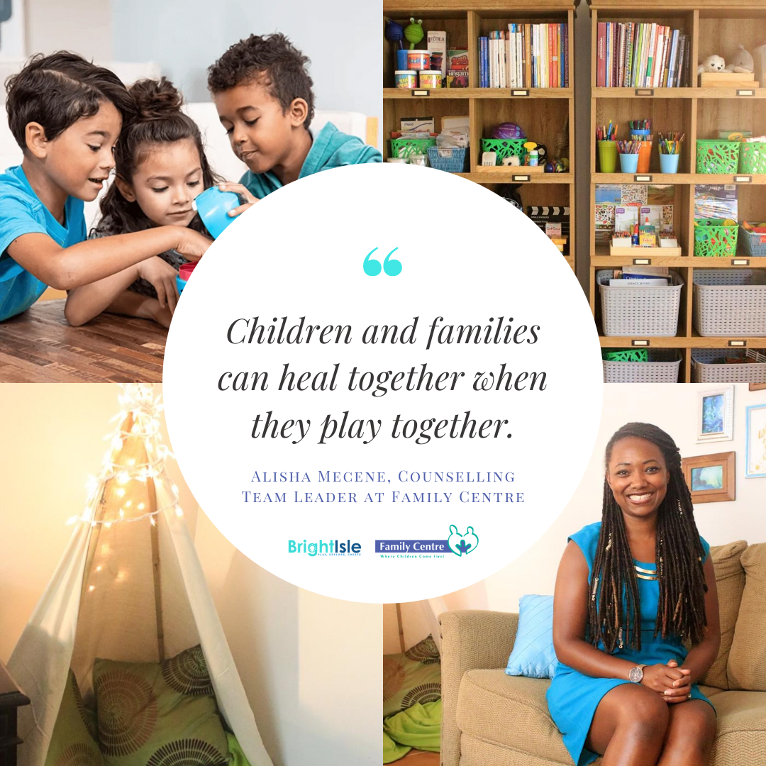 Children and families can heal together when they play together.