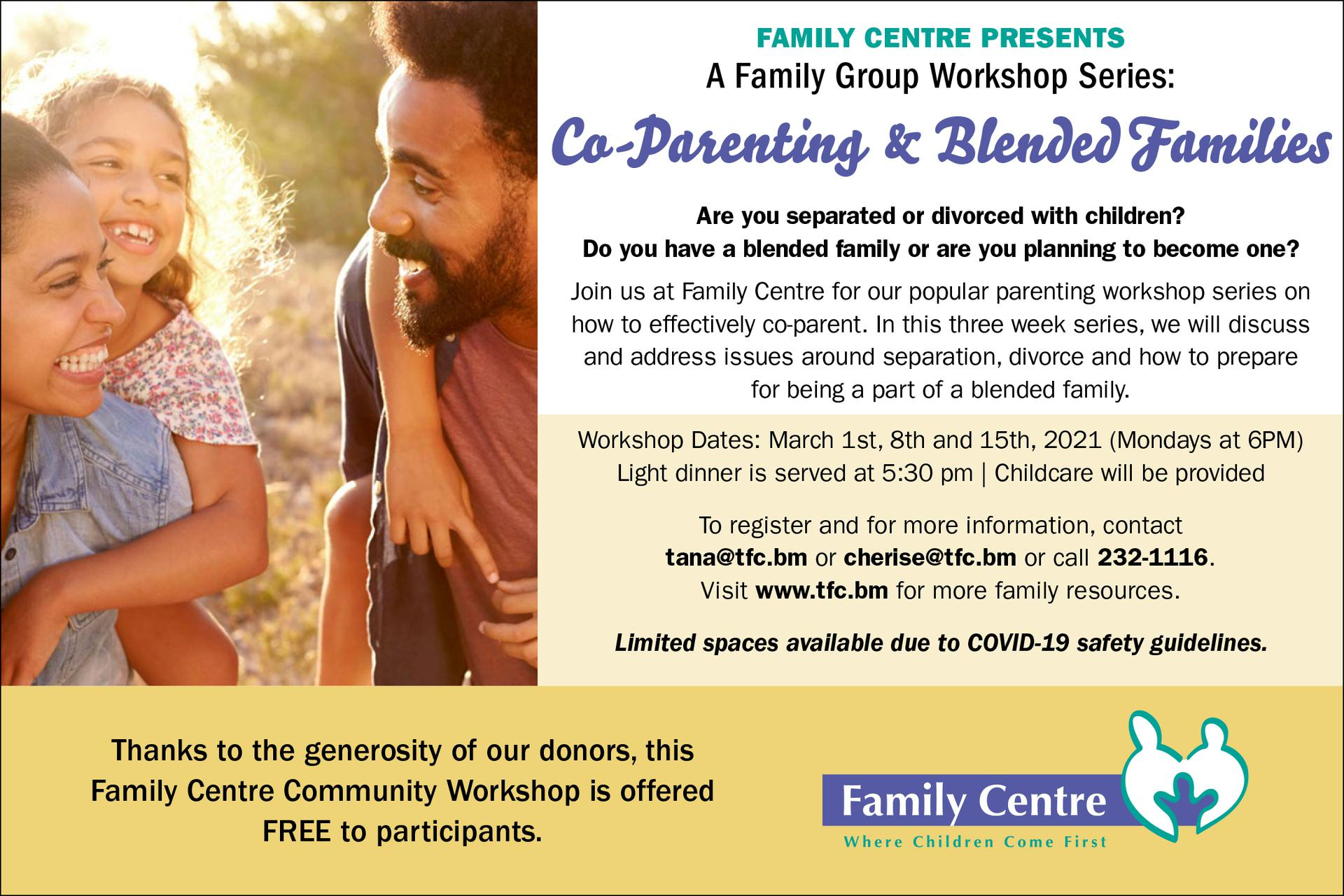 Family Centre Presents a Family Group Workshop Series: Co-Parenting & Blended Families