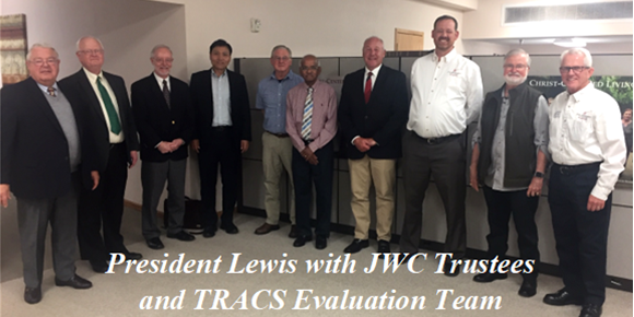 President Lewis with JWC Trustees and TRACS Evaluation Team