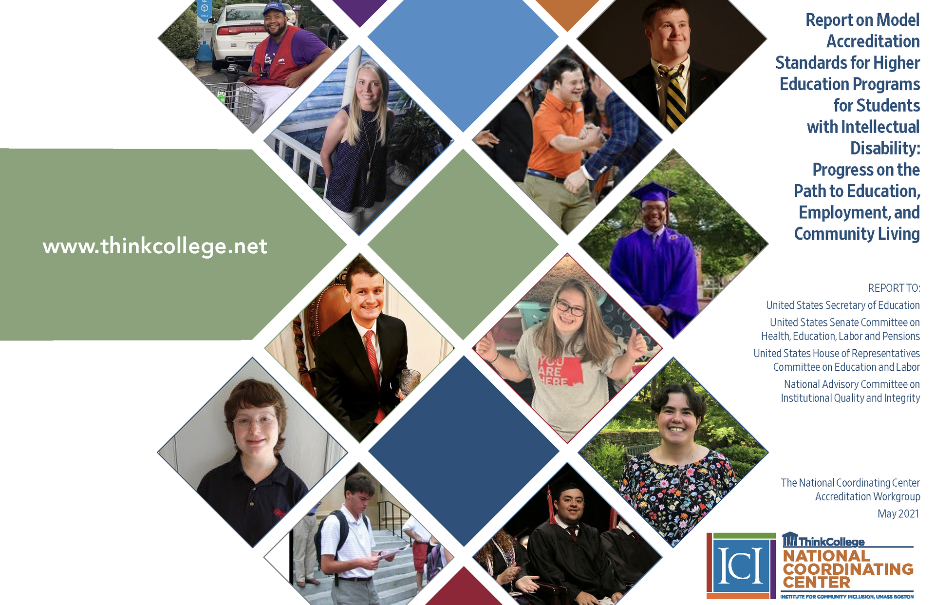 Accreditation Workgroup Report on Model Accreditation Standards for Higher Education Programs for Students with Intellectual Disability: Progress on the Path to Education, Employment, and Community Living.
