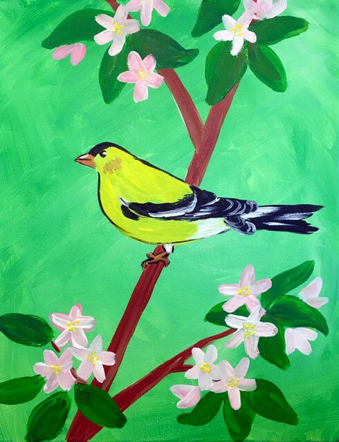 bird fest sip and paint