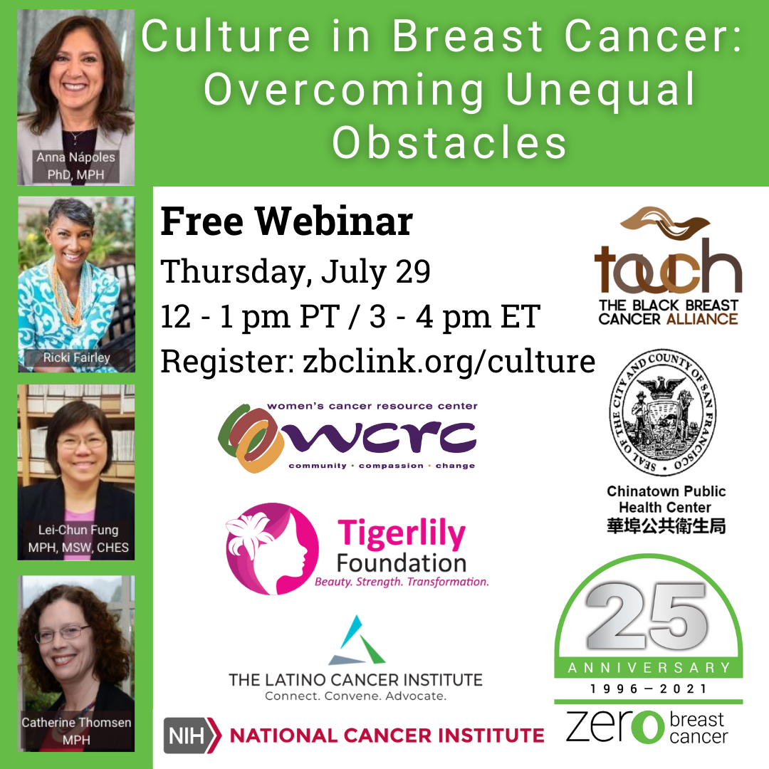 Join our webinar Culture in Breast Cancer: Overcoming Unequal Obstacles