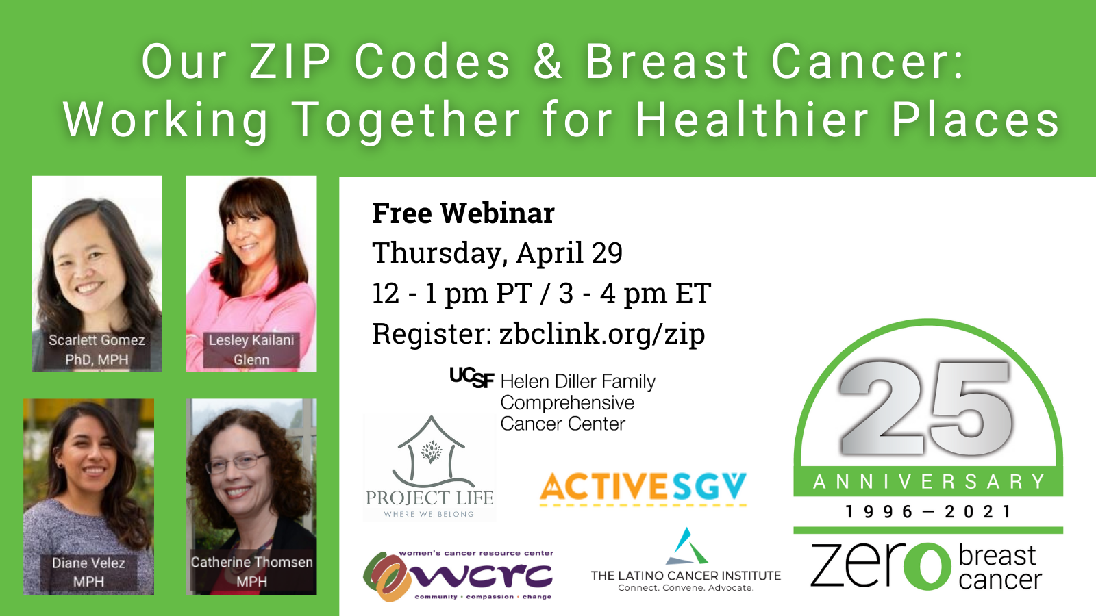 Our ZIP Codes and Breast Cancer: Working Together for Healthier Places